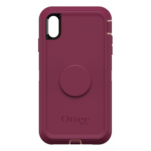 "OtterBox Otter + Pop iPhone Xs Max 6.5"" Defender, Fall Blossom (Pink/Red)"