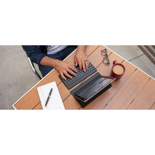 ZAGG Universal Keyboard Fabric Stand Flex (7 Color Backlit), Black
