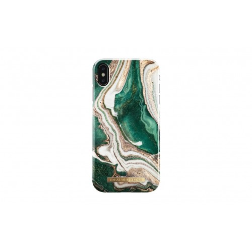 "iDeal Of Sweden iPhone Xs Max 6.5"" Fashion Case A/W 2018, Golden Jade Marble"