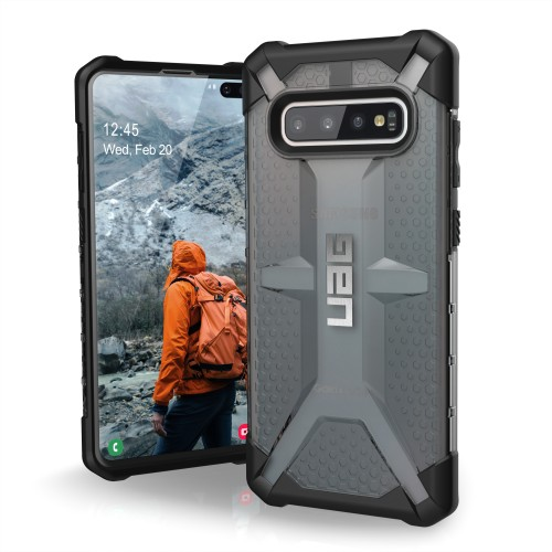 UAG Galaxy S10+ Plasma Ash Case, feather-light composite construction