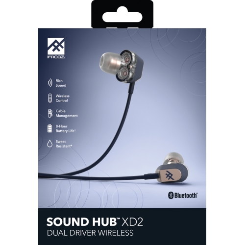 iFrogz Audio Sound Hub Wireless Earbud XD2, Navy